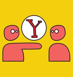 Yahoo icon social company logo search engine vector