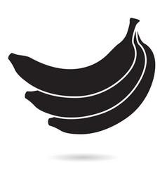 Banana bunch black icon vector