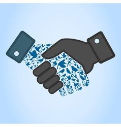 Bird hand shake vector image vector image
