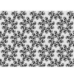 Black lace pattern vector image