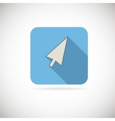 Computer arrow flat icon vector image vector image