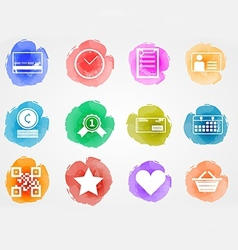 Creative colored icons for internet retail vector image vector image