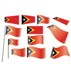 flag of East Timor vector image vector image