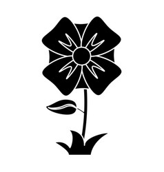flower romantic natural icon pictogram vector image vector image