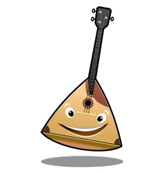 Happy cartoon balalaika vector image