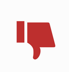 modern thumbs down icon on white background vector image