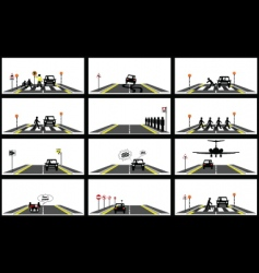 road series collection vector image