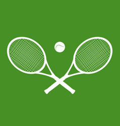 silhouettes of rackets and a ball vector image
