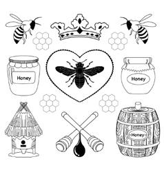 bee honey icon vector image vector image