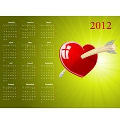 european calendar vector image vector image