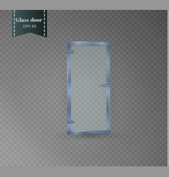 glass door isolated on a transparent background vector image