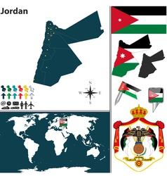 Jordan map vector image vector image