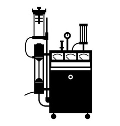Life support machine vector image