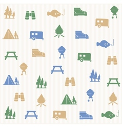 Outdoors activity seamless pattern vector image