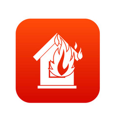 preventing fire icon digital red vector image