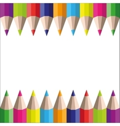 rainbow pencils on a white background vector image vector image