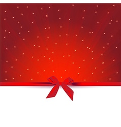 red gift greeting card vector image vector image
