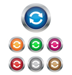 Synchronization buttons vector image vector image