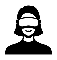 Virtual Reality Headset Icon vector image