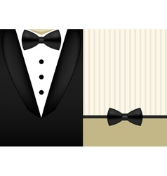 bow tie tuxedo invitation design template vector image