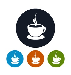 Cup of tea icon cup of coffee icon vector image vector image