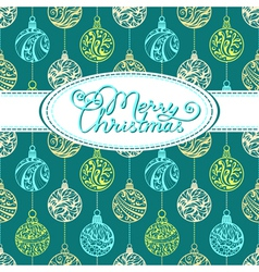 Festive background with Christmas balls vector image vector image