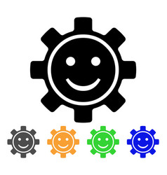Gear smile icon vector