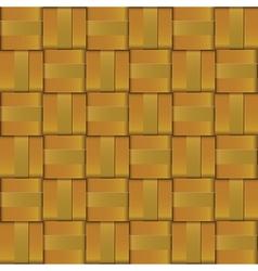 Gold metal weave cross pattern vector image