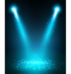 Spot light beams projection on floor vector image