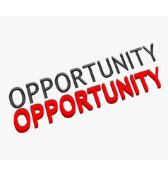 3d opportunity text design vector