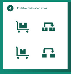 4 relocation icons vector image