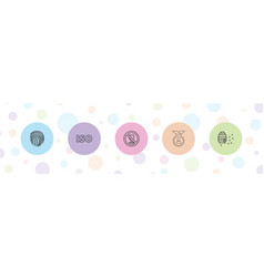 5 stamp icons vector