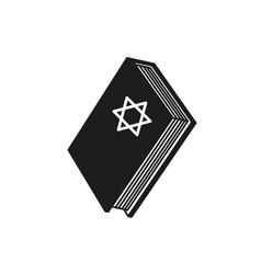 a book of hanukkah icon star holiday vector image