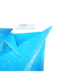 Abstract background with geometric shapes vector