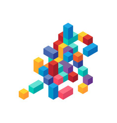 abstract modern colorful geometric isometric vector image