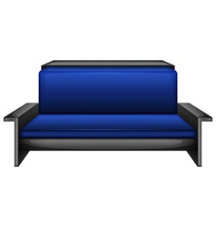 An elegant blue sofa vector