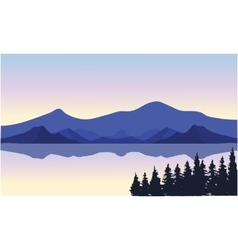 An of a river and mountains vector