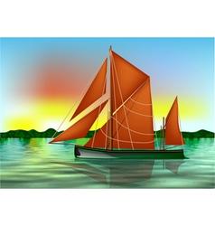 Barge thames vector