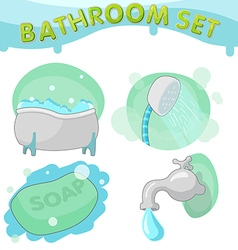Bathroom Symbol icon set B vector