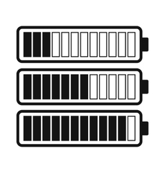 Battery with different level of charge icon vector