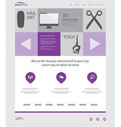 Beauty salon website template vector