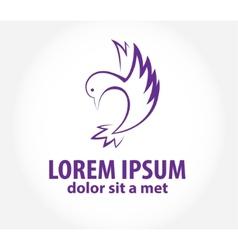 Bird abstract logo design template vector image