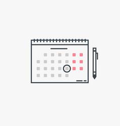 calendar and pen vector image