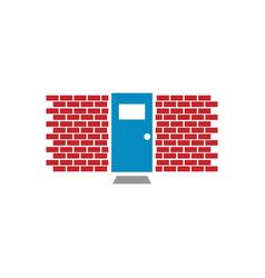 closed door graphic template vector image