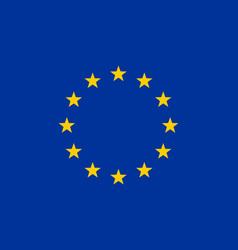 Colored flag of the eu vector