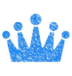Crown grunge icon vector