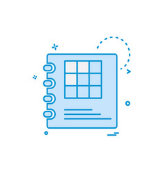 diary icon design vector image