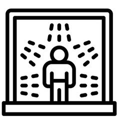 Disinfection chamber line style icon vector