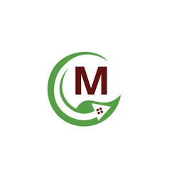 Eco home initial m vector