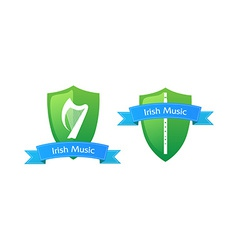 Emblem of Irish Music vector